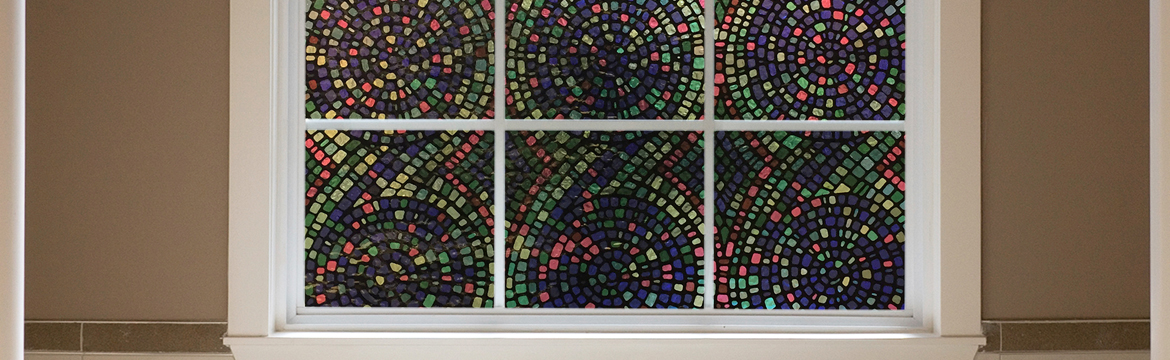 Decorative Window Film Spiral Mosaic Gila Window Film