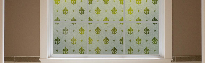 Block Views With A Fresh European Design Home For Gila Fleur De Lis Privacy Control Window Film