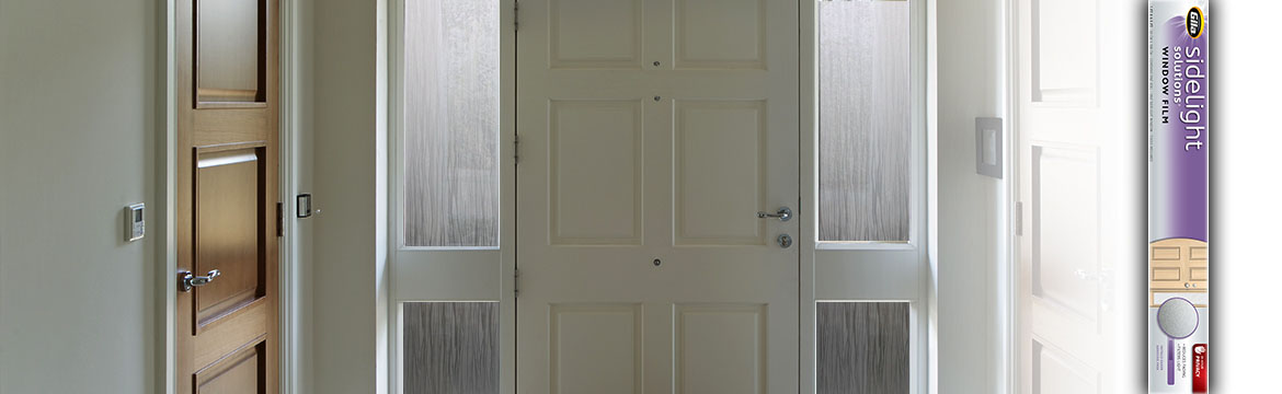 Sidelight window film for Front doors that let in light