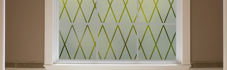 Diamond Lattice Glass Scenes Window Film