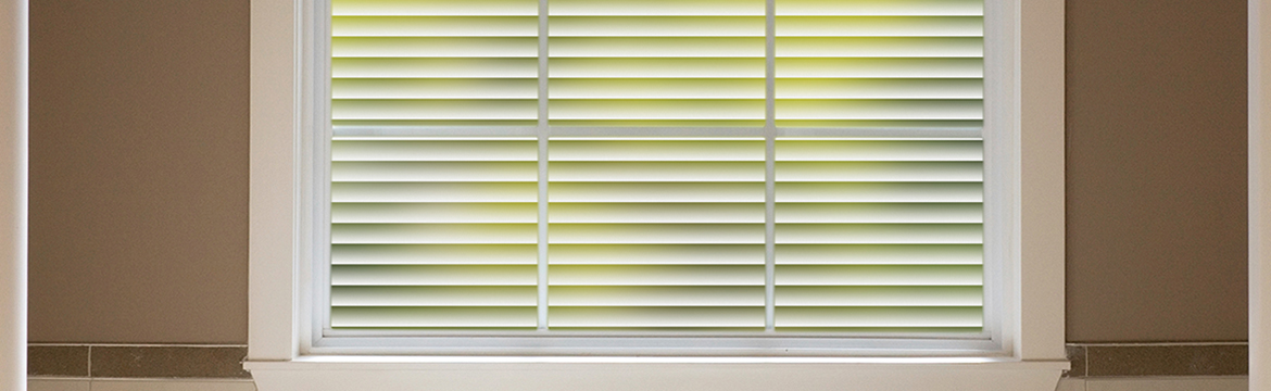Let sunlight in and get the sleek look of decorator window blinds.