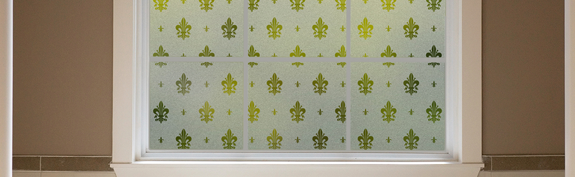 add practical privacy along with a royal historical flourish - Frosted Window Film