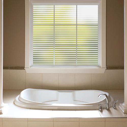 Bathroom Window Privacy Film Lowes: Gila® Faux Blinds Glass Scenes Window Film