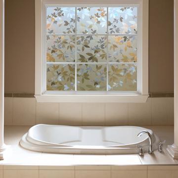 Autumn frost decorative window film gila window film for Privacy glass options